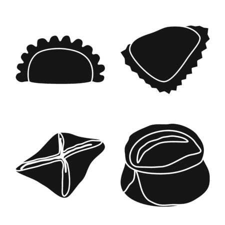 Vector design of cuisine and appetizer icon. Collection of cuisine and food stock vector illustration.
