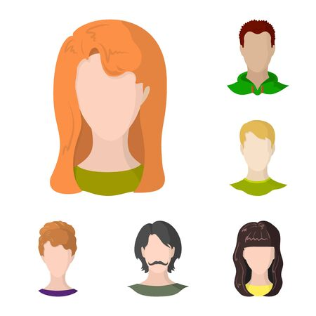 Vector design of avatar and dummy symbol. Set of avatar and figure stock symbol for web.  イラスト・ベクター素材