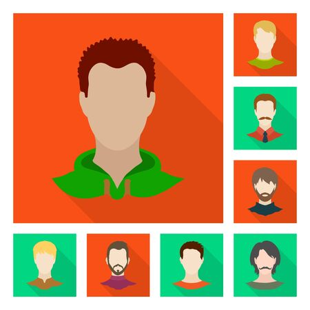 Vector design of avatar and dummy icon. Collection of avatar and figure stock symbol for web.  イラスト・ベクター素材