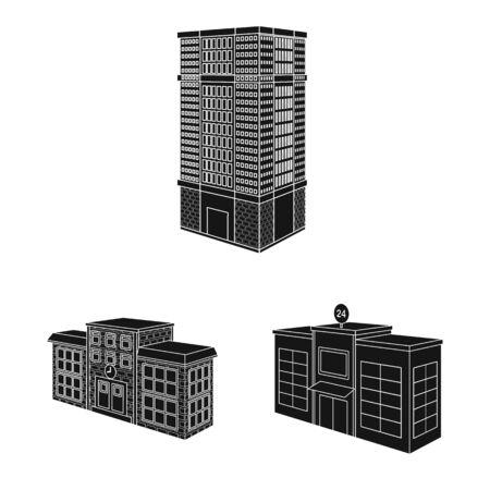 Vector design of architecture and estate icon. Collection of architecture and build stock vector illustration.