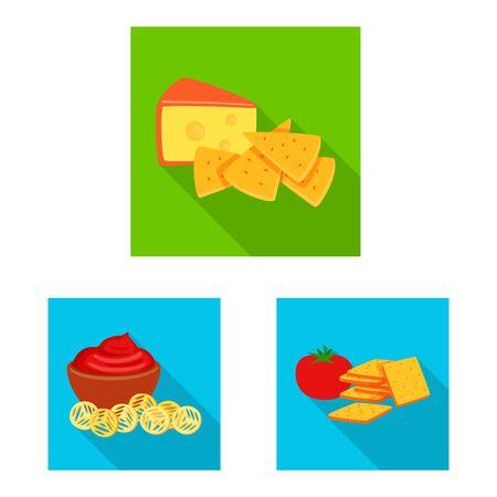 Vector illustration of taste and seasonin symbol. Collection of taste and organic stock vector illustration. Ilustração