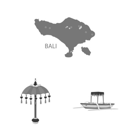 Vector illustration of asian and geography sign. Collection of asian and tourism vector icon for stock.