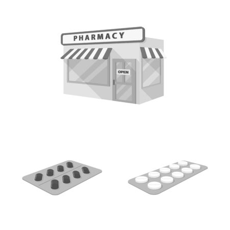 Isolated object of medicine and health sign. Set of medicine and help stock symbol for web.