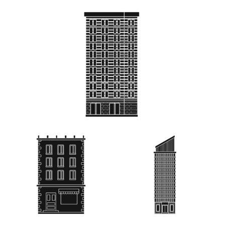 Vector design of modern and estate symbol. Set of modern and building stock vector illustration.