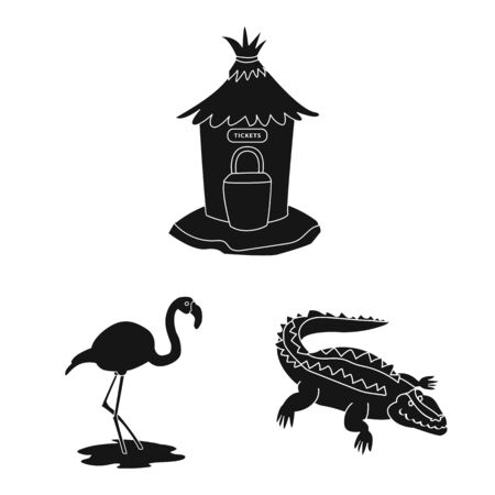 Isolated object of fauna and entertainment icon. Collection of fauna and park stock symbol for web.