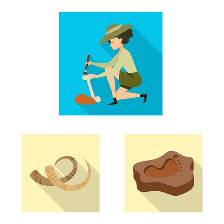 Vector design of story and items icon. Set of story and attributes stock vector illustration. Иллюстрация
