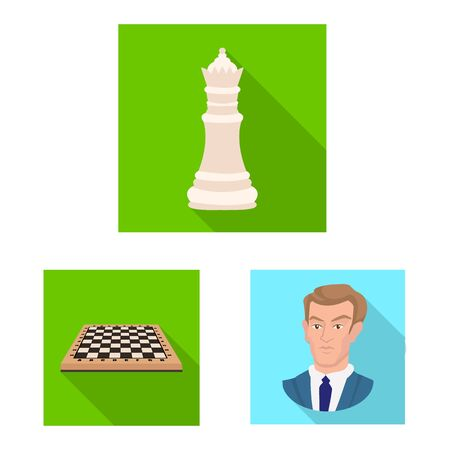 Vector design of checkmate and thin sign. Set of checkmate and target vector icon for stock. Illustration