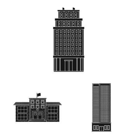 Vector design of modern and estate symbol. Set of modern and building stock symbol for web.