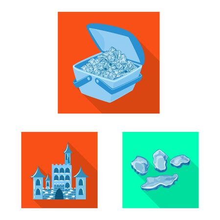 Vector illustration of texture and frozen icon. Collection of texture and transparent stock symbol for web. Stock Vector - 130636878