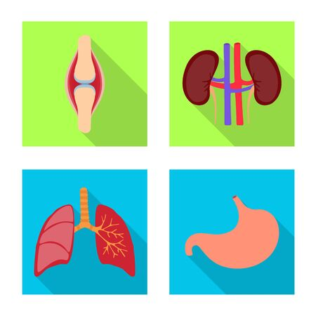 Vector design of human and health symbol. Set of human and scientific stock symbol for web. Illustration