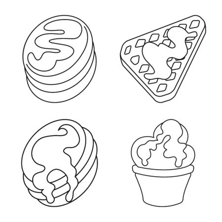 Vector design of sweet and product icon. Collection of sweet and caramel stock symbol for web.