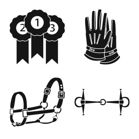 Isolated object of sport and competition icon. Set of sport and equestrian vector icon for stock. Ilustração