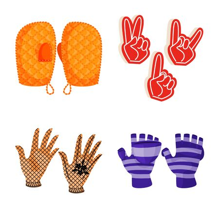 Vector illustration of accessory and style symbol. Set of accessory and distinctive vector icon for stock. Çizim