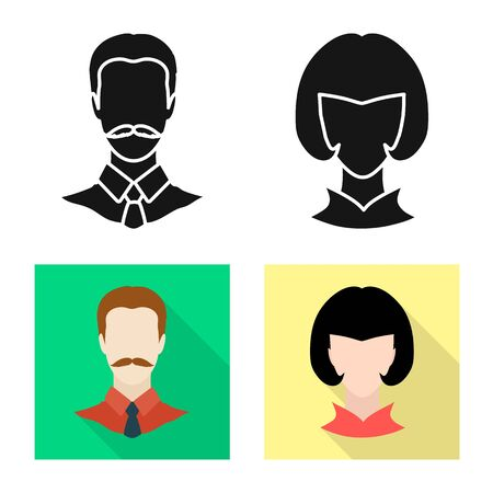 Vector design of professional and photo symbol. Set of professional and profile stock vector illustration.