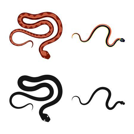 Vector illustration of mammal and danger symbol. Set of mammal and medicine stock vector illustration. Stock Illustratie