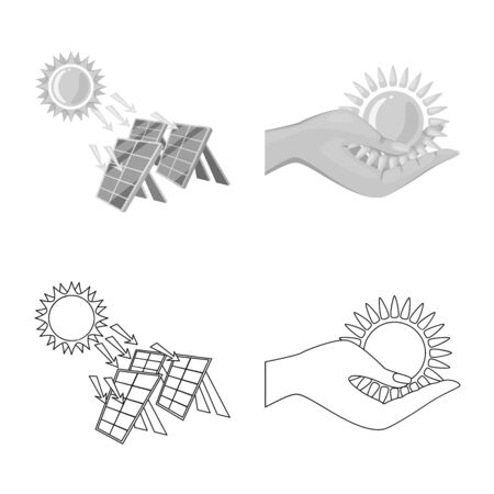 Isolated object of innovation and technology symbol. Set of innovation and nature vector icon for stock.