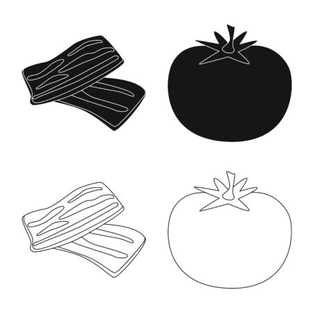 Vector illustration of taste and product icon. Collection of taste and cooking stock symbol for web. Foto de archivo - 130689416