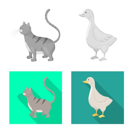 Isolated object of breeding and kitchen symbol. Set of breeding and organic vector icon for stock.  イラスト・ベクター素材