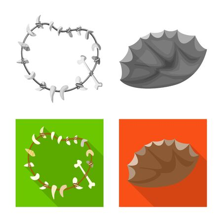 Vector design of evolution and prehistory symbol. Collection of evolution and development vector icon for stock.