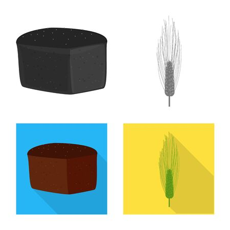Vector illustration of agriculture and farming icon. Collection of agriculture and plant vector icon for stock.