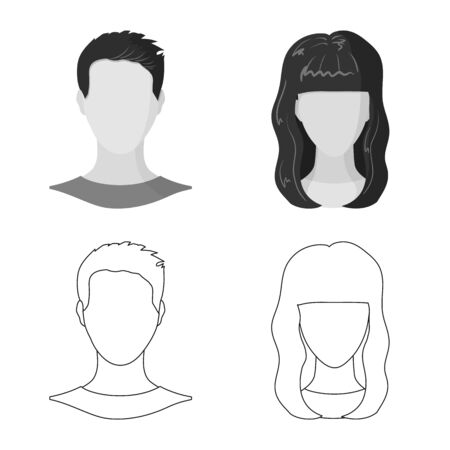 Isolated object of professional and photo icon. Collection of professional and profile stock symbol for web.  イラスト・ベクター素材