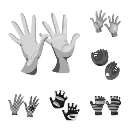 Vector design of property and distinctive sign. Set of property and textile vector icon for stock. Çizim