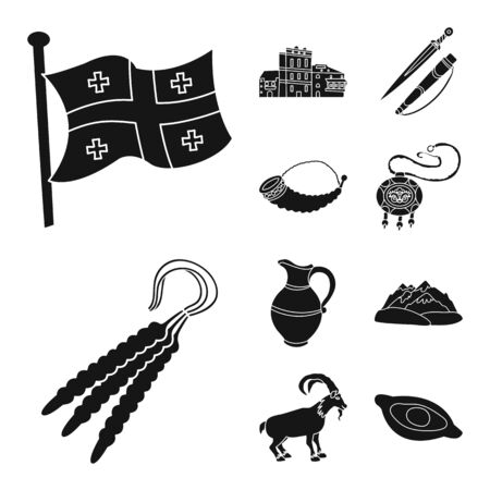 Vector illustration of heritage and originality icon. Set of heritage and traditions vector icon for stock. Illustration