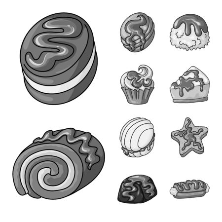 Isolated object of sweet and caramel icon. Set of sweet and culinary vector icon for stock.