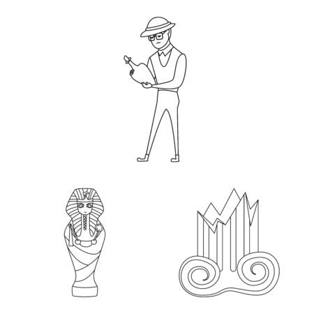 Vector design of story and research icon. Set of story and discovery vector icon for stock.