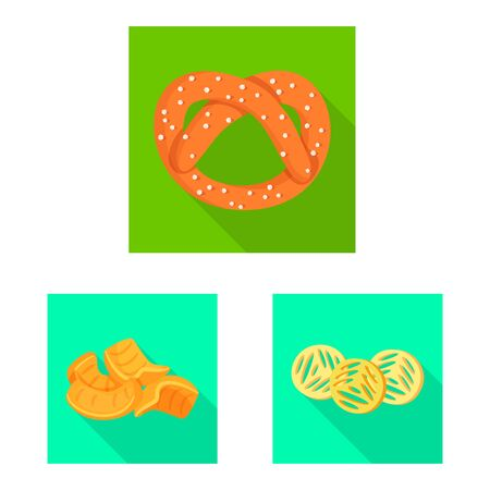 Isolated object of Oktoberfest and bar logo. Set of Oktoberfest and cooking stock symbol for web. Ilustração