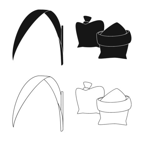 Vector illustration of farm and agriculture icon. Set of farm and technology vector icon for stock. Ilustração