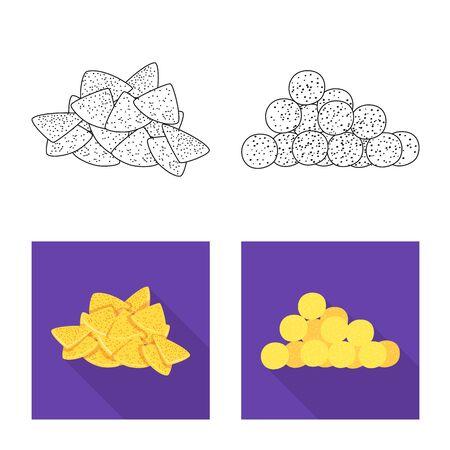 Isolated object of Oktoberfest and bar icon. Collection of Oktoberfest and cooking vector icon for stock. Ilustração