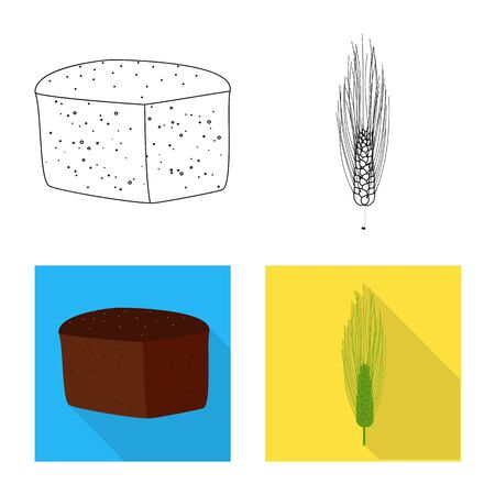 Isolated object of agriculture and farming icon. Set of agriculture and plant stock vector illustration.