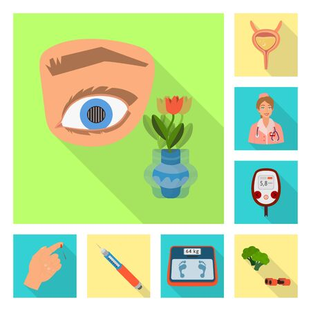 Vector design of symptom and disease icon. Set of symptom and treatment stock symbol for web.