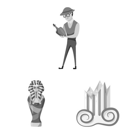 Vector illustration of story and discovery logo. Collection of story and items stock vector illustration.