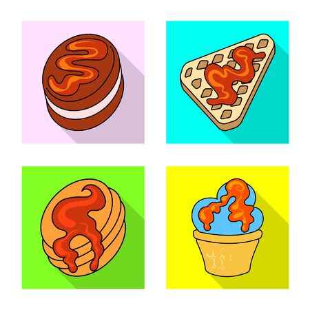 Isolated object of confectionery and culinary icon. Collection of confectionery and colorful stock symbol for web. Иллюстрация