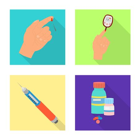 Isolated object of symptom and disease icon. Set of symptom and treatment stock symbol for web. Ilustração