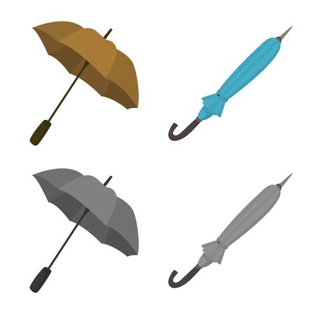 Isolated object of protection and closed icon. Set of protection and rainy stock symbol for web.