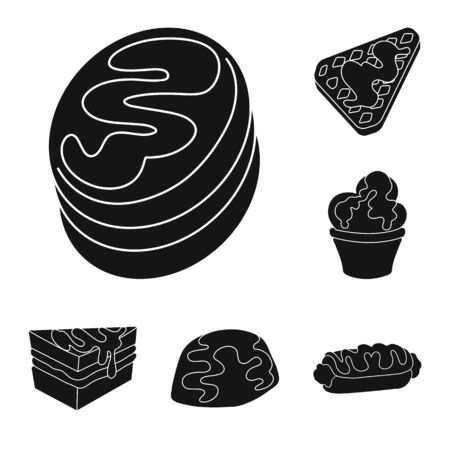 Vector design of sweetness and product icon. Collection of sweetness and sweet stock vector illustration.