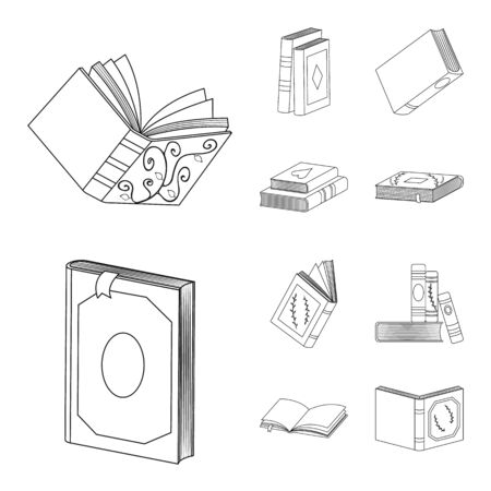 Isolated object of study and literature symbol. Collection of study and source vector icon for stock.