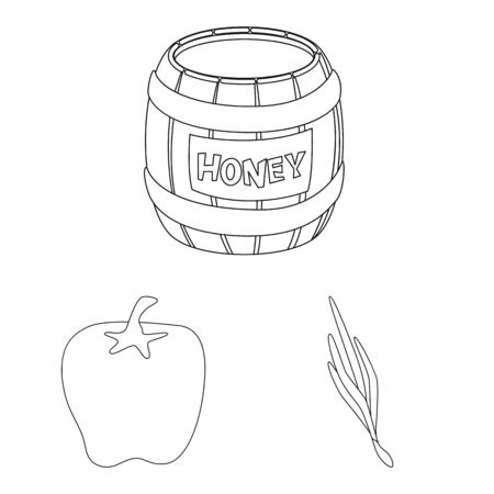 Vector design of seasonin and ingredient logo. Set of seasonin and aroma vector icon for stock.