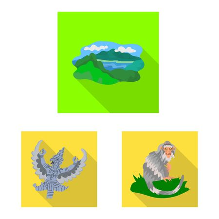 Vector illustration of travel and tourism icon. Set of travel and island vector icon for stock.