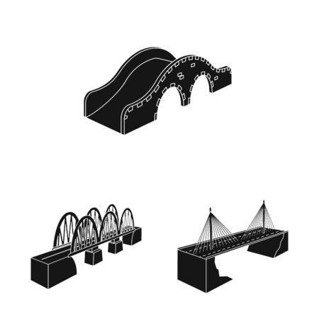 Vector design of construct and side sign. Set of construct and architecture vector icon for stock. Stock Illustratie