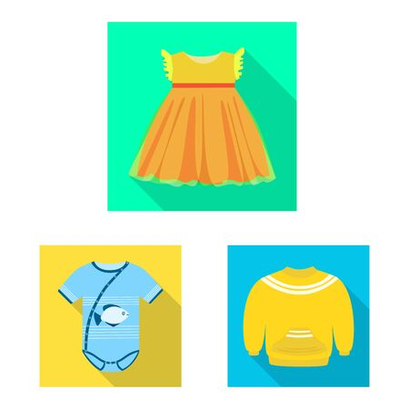Vector design of fashion and garment icon. Collection of fashion and cotton vector icon for stock. Иллюстрация