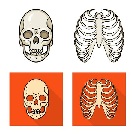 Vector design of medicine and clinic logo. Set of medicine and medical stock symbol for web. Ilustração