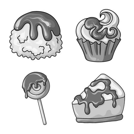 Vector design of sweet and caramel icon. Collection of sweet and culinary stock symbol for web. Ilustração