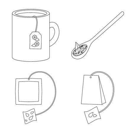 Vector illustration of food and natural sign. Collection of food and black vector icon for stock. Stok Fotoğraf - 131097288