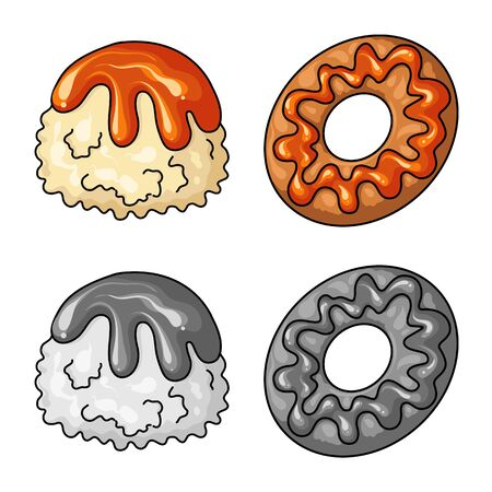 Isolated object of confectionery and culinary symbol. Collection of confectionery and product vector icon for stock.
