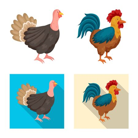 Vector design of breeding and kitchen sign. Collection of breeding and organic stock symbol for web.