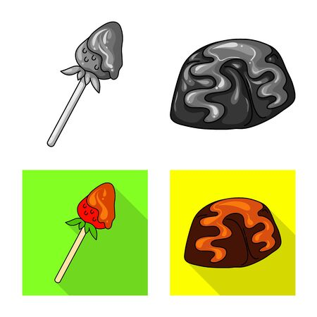 Isolated object of confectionery and culinary symbol. Set of confectionery and product vector icon for stock. Ilustração